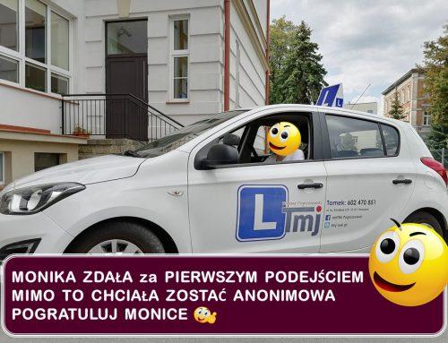 BRAWO MONIKA, MOJE GRATULACJE :-).