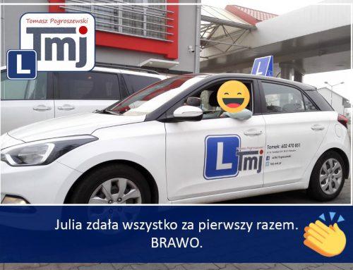 BRAWO JULIA, MOJE GRATULACJE :-).