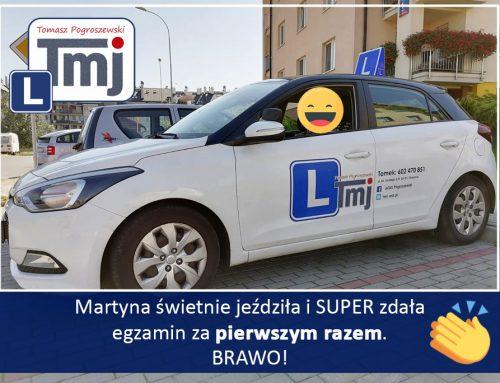BRAWO MARTYNA, MOJE GRATULACJE :-).